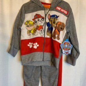 Nwt Nickelodeon Paw Patrol 2T Sweat Jacket Set